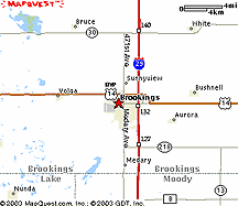 City of Brookings map