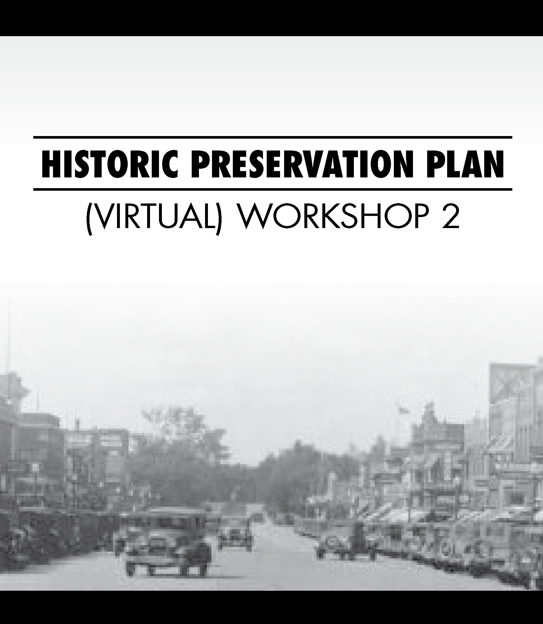 Newsflash Graphics Historic Preservation Plan 2020