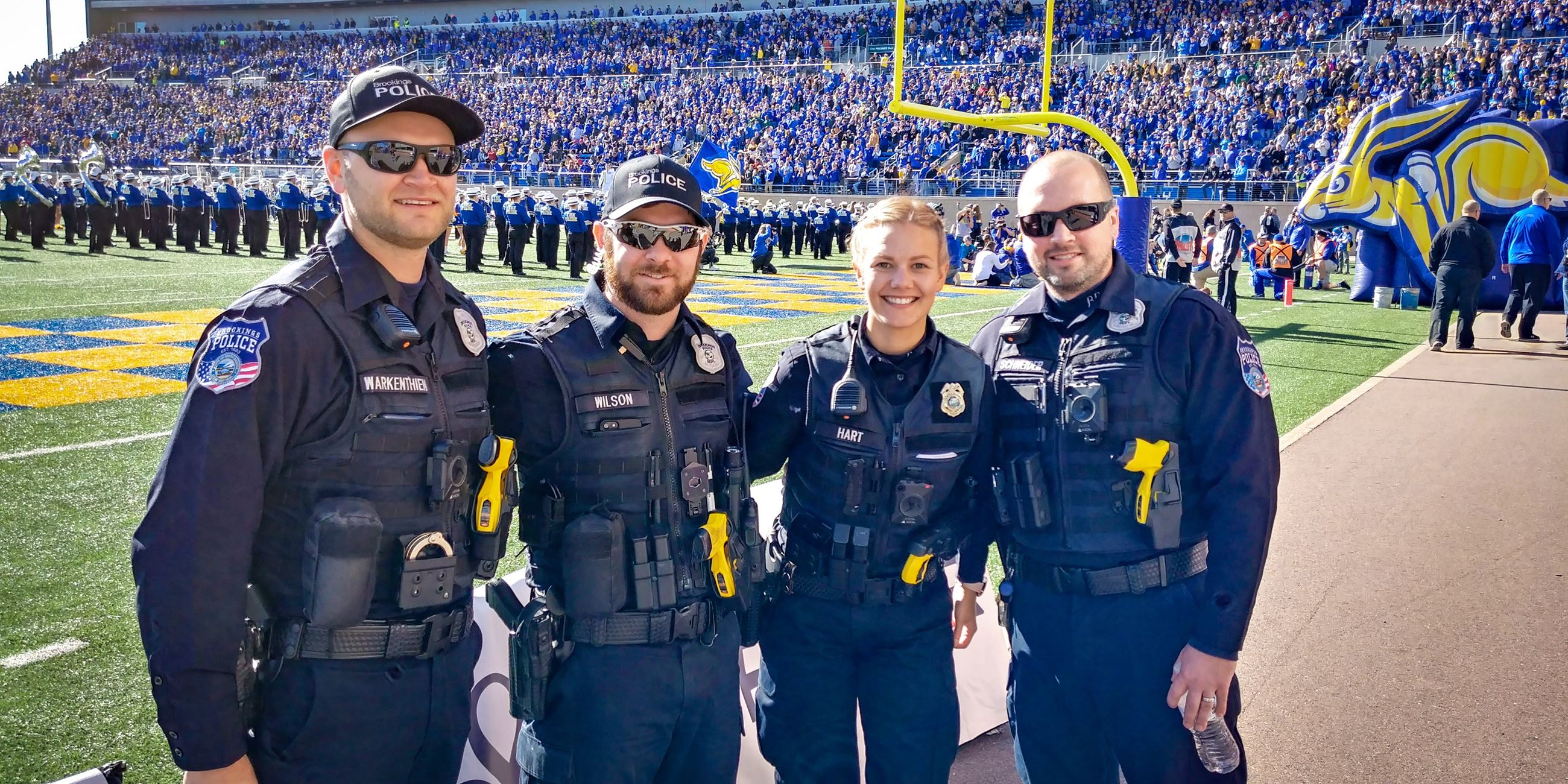 Officers at SDSU Football game