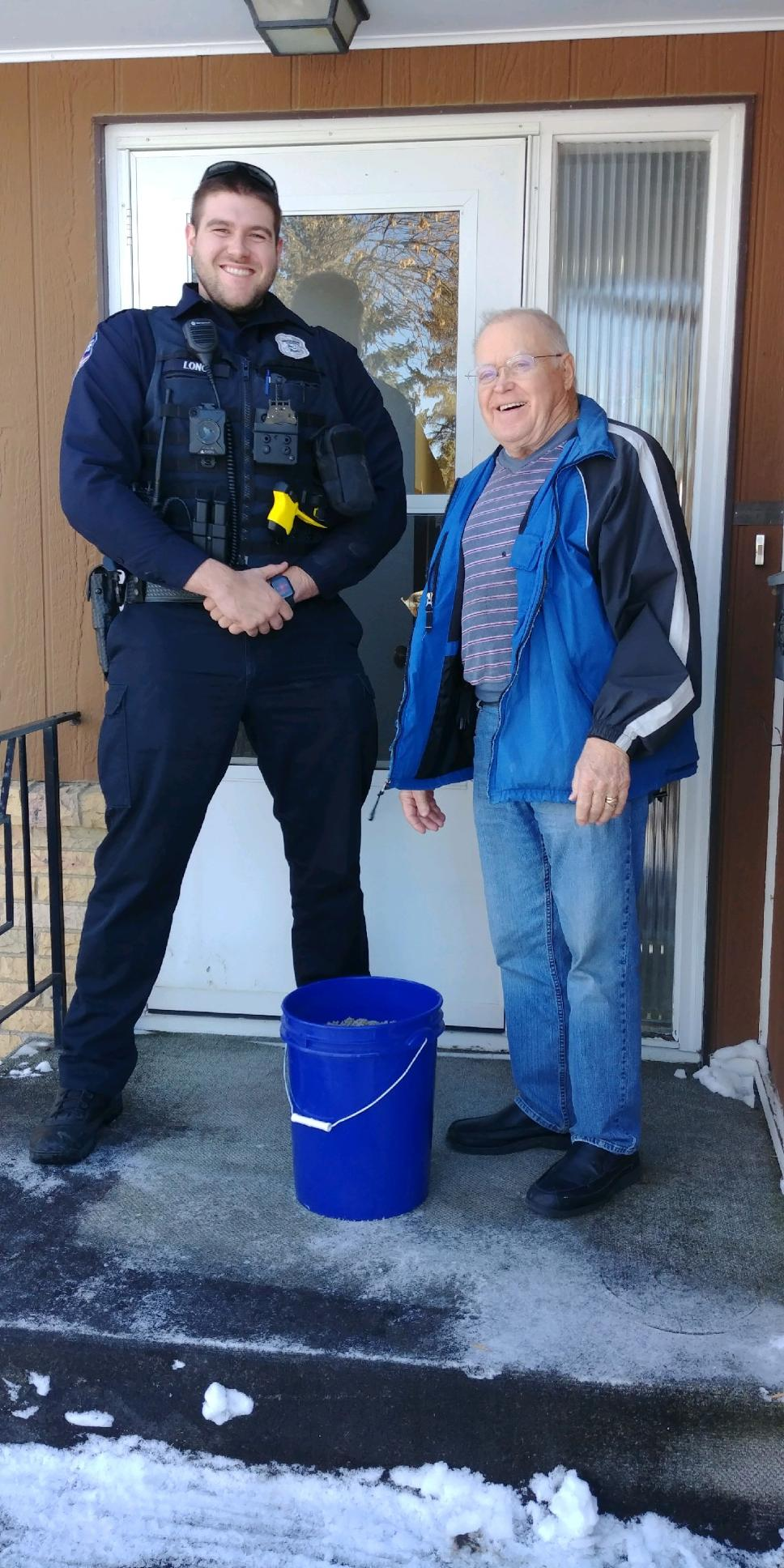 Officer with senior resident