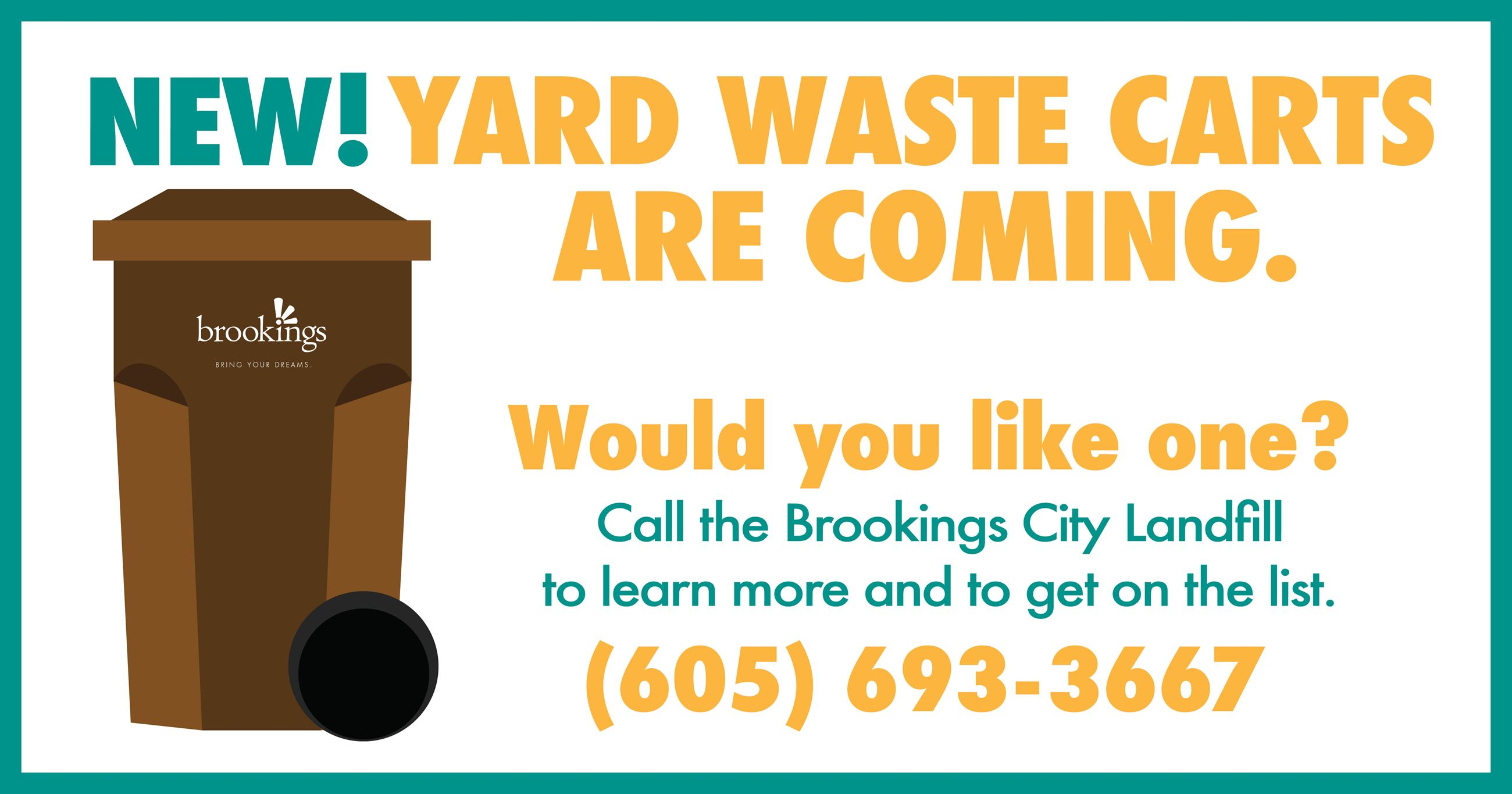 Coming Soon Yard Waste Carts Graphic