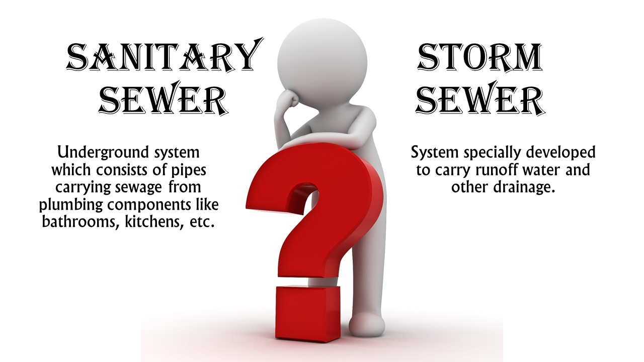 Sanitary Sewer vs Storm Sewer